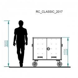 wysokość aluminiowej paki jeździeckiej Rc Classic na kółkach